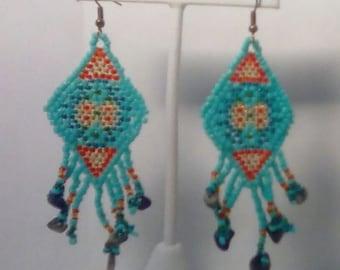 Handmade diamond shaped earrings