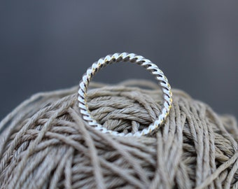 Ring twisted Sterling Silver 925 - ring twist - 004