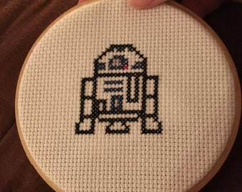 R2D2 Cross stitch wall hanging