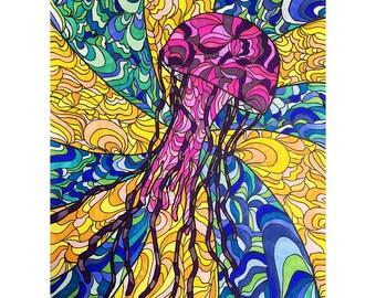 Glass Jellyfish - Print - 11x14