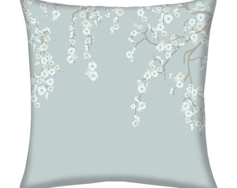 Maysong Woodlawn Blue Throw Pillow
