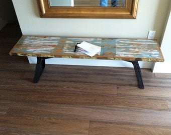Modern Rustic bench/end table