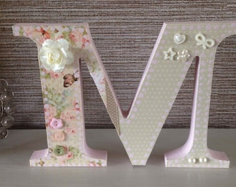 M for MUM Wooden 6 inch letter M 18mmdepth
