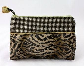 French haute couture fabrics for a unique luxury make-up pouch or small clutch