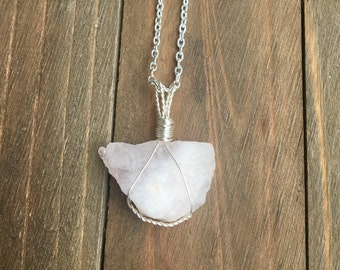Uncut Rose Quartz Necklace