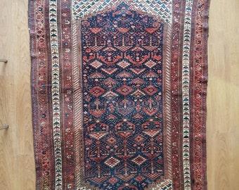 Old unique Persian rug (233cm x 140cm)