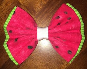 Watermelon Bow - Summer Bow - Hair Accessories - Hair Bow - Handmade Bow