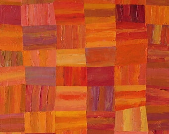 Art Print Orange Fields
