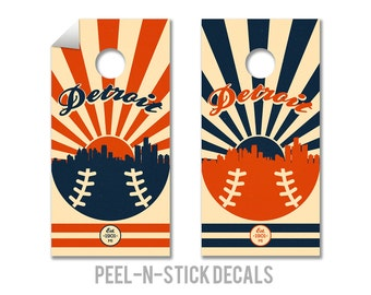 Detroit Tigers Cornhole Board Decals