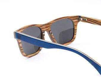 Wooden sunglasses by 22 | Wayfarer