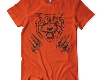 Clawing Tiger Men's Jersey Crew Neck T-Shirt