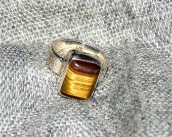 Tiger's Eye Sterling Silver Ring
