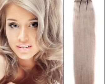 Shade 18 clip in human hair extensions
