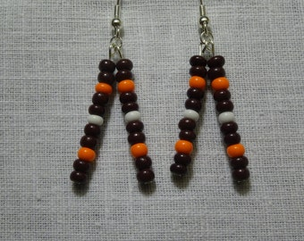 Cleveland Browns Glass Bead Earrings