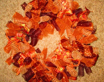 Fall Deco Mesh Wreaths