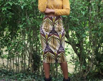 Straight skirt high waist