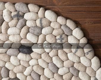 100cm Felt pebble rug home decor