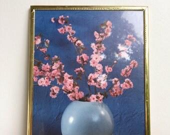framed flower photo print