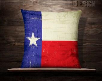 Texas Flag Pillow | Lonestar Pillow | Patriotic Pillows | Vintage Pillow | State | Dallas | Houston | Austin | Fort Worth | Waco | Galveston