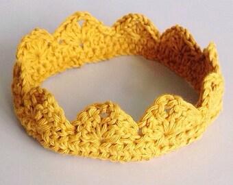 Golden Crochet Crown