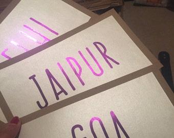 Purple Table Names