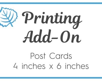 Printing Add-On Option Post Cards Designs 4 x 6 inches. Postcards Blue Aspen Studio Orders ONLY when also purchasing Digital Files ADDPRTPSC