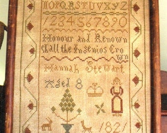 Hannah Stewart by Heartstring Samplery Counted Cross Stitch Pattern/Chart