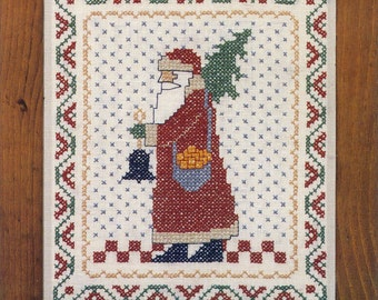 Bell Santa Stamped Sampler Kit by Country Stitches