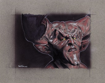 """Darkness (Tim Curry) from the Movie Legend - 8"""" x 10"""" Signed Print"""