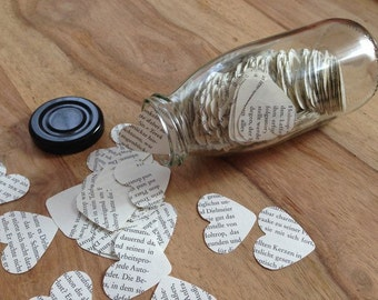 600 x heart confetti in the bottle - Upcycling / heart / confetti and table decorations / guestbooks / Upcycling / wedding / decoration / book / notes / PA