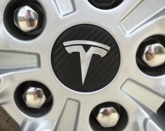 Tesla Model S / X Center Wheel Wraps / Decals