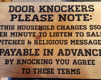 Door Knockers Please Note: