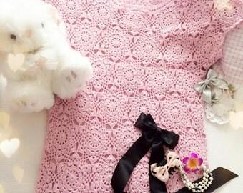 Handmade pink woolly top