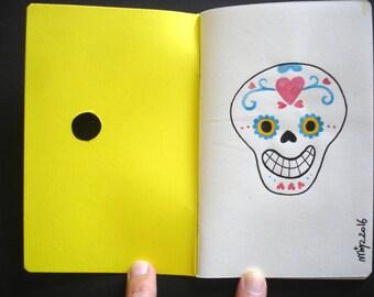 """Notebook A6 """"Dia de los muertos"""" - original illustration"""