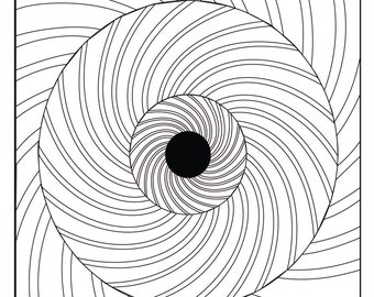 Digital Optical Illusion #3 Coloring Page