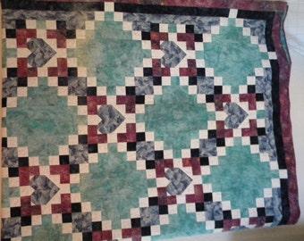 Batik beauty, queen-sized quilt.