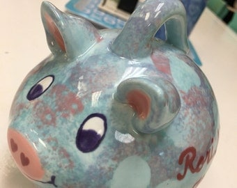 Ceramic Personalized Baby Piggy Bank