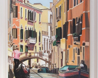 View from a Gondola (oils, 2016)