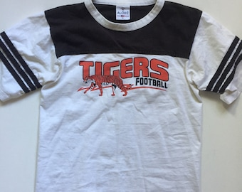 Vintage jersey t shirt 1980's football tshirt Tigers Size Small