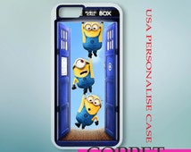 Tardis Despicable Minion case iPhone 6s 5s 5c 4s 6 Plus case, iPod 4 5 6 case, Samsung Case, HTC Xperia Nexus LG G3 G4 iPad case