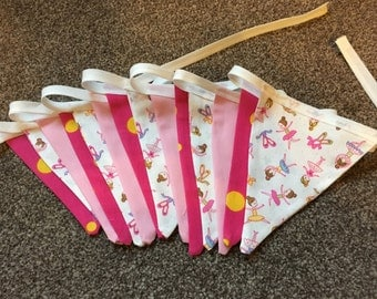Ballerina/Little Girl/Pink Bunting