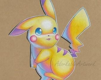 Pikachu - Signed Print