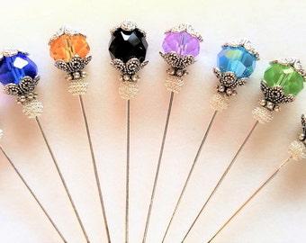 Crystal Stick Pin/Hijab Pin/Hat Pin/Lapel Pin