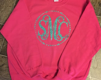 Sweatshirt with large monogram