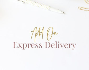 Add on: express delivery of your premade logo
