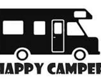 Camping Decal, Happy Camper Decal, Camping Car Decal, Camping Yeti Decal, Camping Window Decal, Camping Yeti Decal