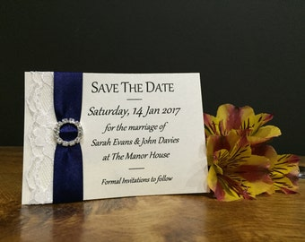 Save the Date Magnet with Lace Detail