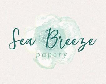 Flower Logo   Sea Breeze   Logo Design, Graphic Design, Custom Logo, Photography Logo, Logo for Small Business, Boutique Logo