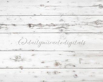 INSTANT DOWNLOAD! White rustic wood wall or floor digital backdrop