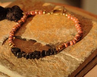 Black Jasper Beaded Bracelet